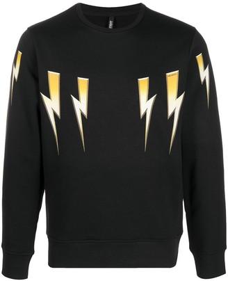 Neil Barrett Thunderbolt-Print Sweatshirt