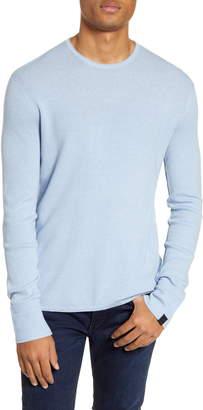 Rag & Bone Davis Long Sleeve Thermal Wool & Linen Blend T-Shirt