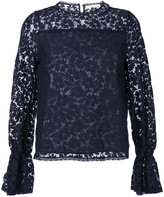 See by Chloe floral lace blouse - women - Cotton/Polyamide - 36