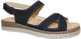 La Plume Black Leather Oak Sandal
