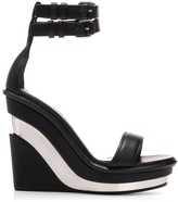 Alexander McQueen Colour Block Wedge Sandals