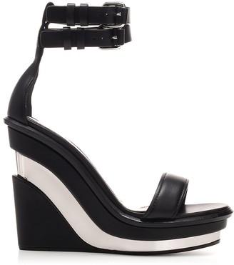 Alexander McQueen Colour Block Wedge Sandals