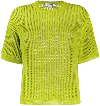 Sunnei Short-Sleeved Knitted Top