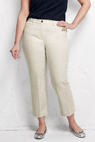 Classic Women's Plus Size Mid Rise Chino Crop Pants-Flax