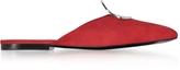 Proenza Schouler Flame Red Suede Flat Mule w/Metal Eyelet
