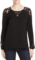Design History Lace Inset Top