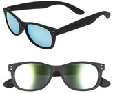 Fantas-Eyes Boy's Fantas Eyes Mirrored Sunglasses - Black/ Green Mirror