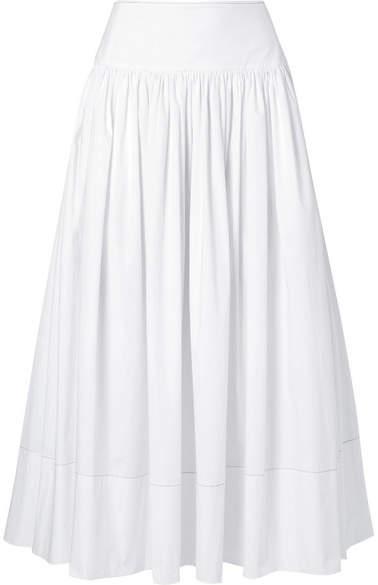 Elizabeth and James Shirley Cotton-blend Poplin Maxi Skirt - White