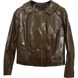 Louis Vuitton Khaki Leather Leather jackets