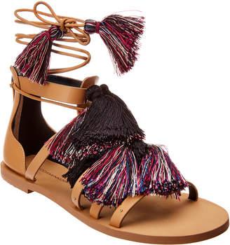 Rebecca Minkoff Elisha Lace Suede Leather Sandal