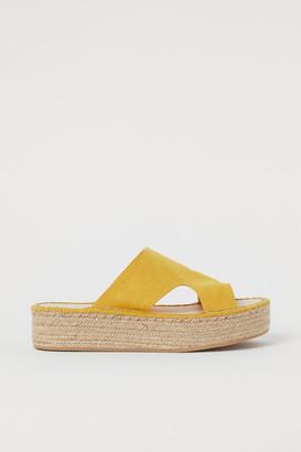 H&M Platform Sandals - Yellow