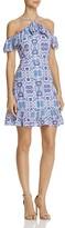 Aqua Halter Ruffle Cold Shoulder Dress - 100% Exclusive