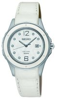 Seiko SXDE79P2 mm Patent Leather Women's Watch