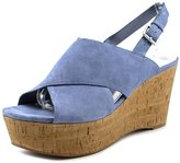 Marc Fisher Sesame Women US 7.5 Blue Wedge Sandal