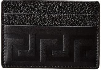 Versace Greek Leather Card Holder