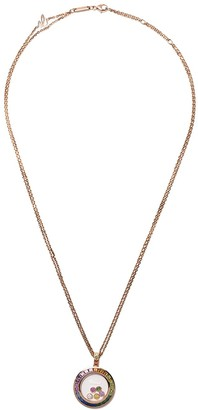 Chopard 18kt rose gold Happy Diamonds Icons pendant necklace