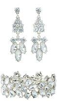 Charlotte Russe Crystal Bracelet & Chandelier Earrings Set