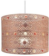 Copper Gem Moroccan Style Chandelier Ceiling Light Shade Fitting, Plastic/Metal, Copper