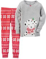 Carter's Baby Girl Dalmatian Top & Fairisle Pants Pajama Set
