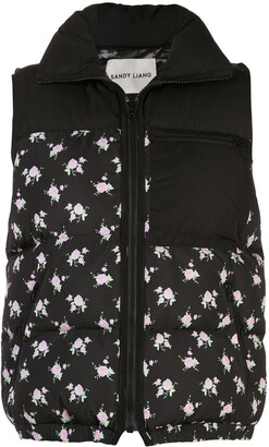 Sandy Liang Miko floral print padded gilet