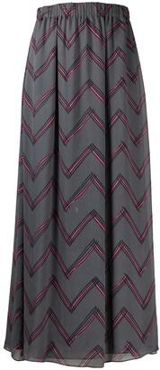 Emporio Armani Zigzag Print Elasticated Waist Skirt