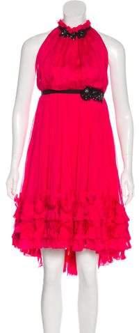 Dolce & Gabbana Silk Halter Dress