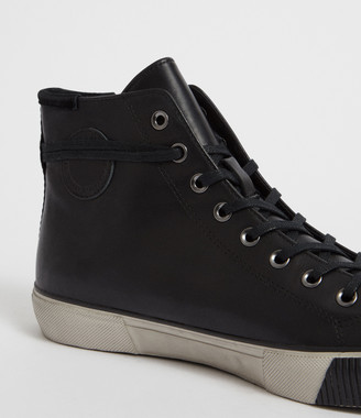 AllSaints Osun Leather Hightop Trainer