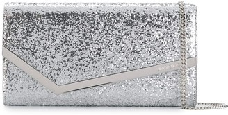 Jimmy Choo Emmie glitter clutch bag