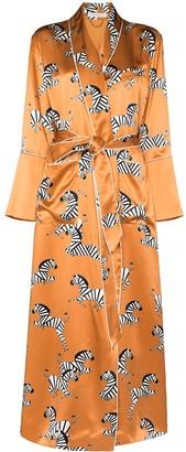 Olivia von Halle Capability zebra-print robe