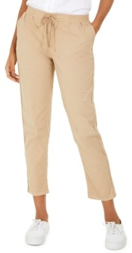Style&Co. Style & Co Pull On Cuffed Utility Pants, Created for Macy's
