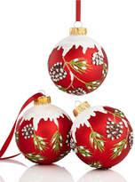 Kurt Adler Set of 3 Pine Cone Ball Ornaments