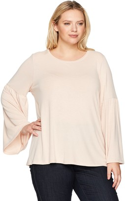 Calvin Klein Women's Plus Size Bell Sleeve Top