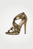 Diane von Furstenberg Jodi In Gold Metallic Leather