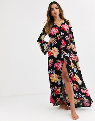 Billabong Desi beach kimono in floral print