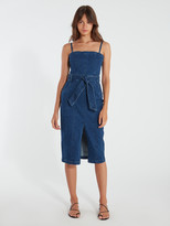 Finders Keepers Miami Denim Midi Dress