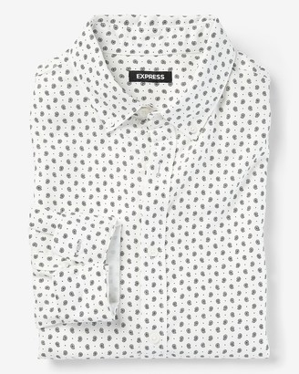 Express Slim Paisley Dressy Flannel Shirt
