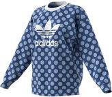 adidas Dot-Print Trefoil Sweatshirt