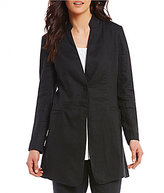 Eileen Fisher Stand Collar Long Jacket