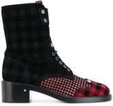 Laurence Dacade tartan lace-up boots