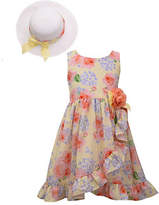 Bonnie Jean Little Kid / Big Kid Girls Sleeveless Dress Set, 5 , Yellow