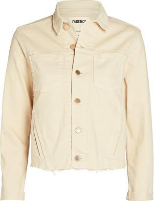 L'Agence Janelle Cropped Denim Jacket