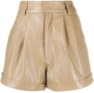 Manokhi Pleated Waist Shorts