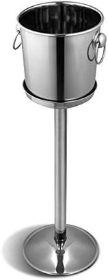 Camilla And Marc Comas Servicio Bar Champagne Bucket Stand, Stainless Steel, Silver, 63 cm