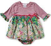 Bonnie Jean Bonnie Baby Baby Girls 12-24 Months Striped-Knit-Bodice Floral Skirt Dress