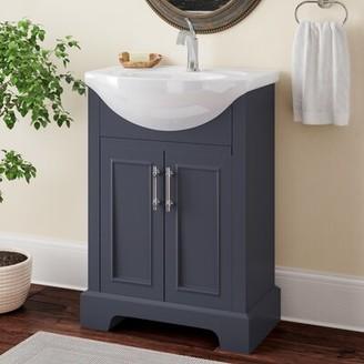 Charlton Home Alessandro 24 Single Bathroom Vanity Set Base Finish: Charcoal Gray