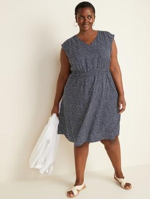 Old Navy Waist-Defined Sleeveless Plus-Size Dress
