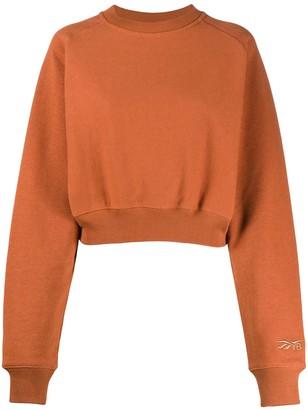 Reebok x Victoria Beckham Logo Cropped Sweatshirt
