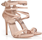 Nude Leather Strappy Sandals