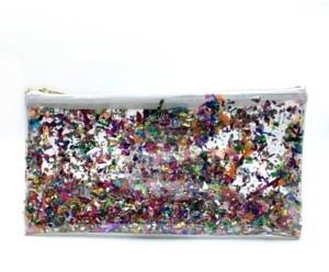 Julie Mollo Clear Confetti Clutch