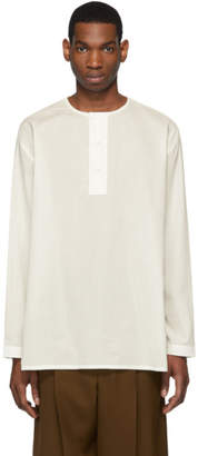 Lemaire Off-White Mesh Henley